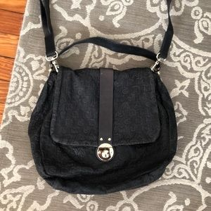 Marc by Marc Jacobs Navy Logo Messenger